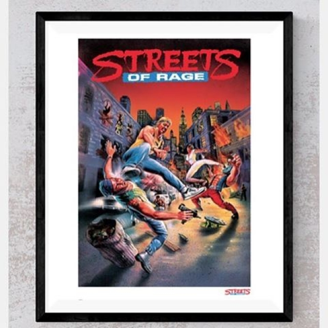 This limited edition Streets of Rage Gilcee Art Print is available at Zavvi for 72 hours only! Link in Bio! #sega #streetsofrage