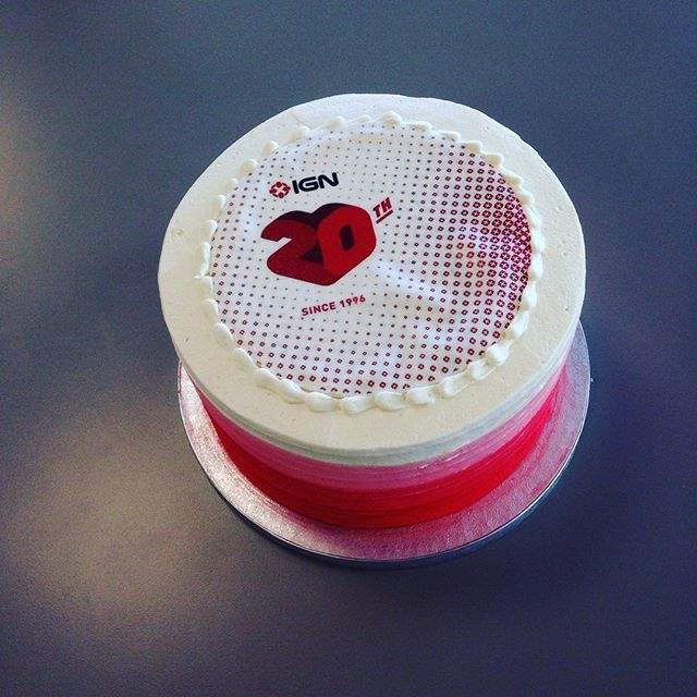Gotta eat fast! Happy 20th Cake Day to @igndotcom #IGN #cake #sega #crumbsanddoilies
