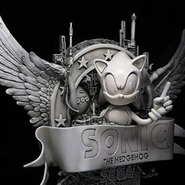 It's going to look awesome in the office! Photo Credit : @dan_mechanica #sega #sonic #sculpture #videogames #danlane #castlegalleries #washingtongreen