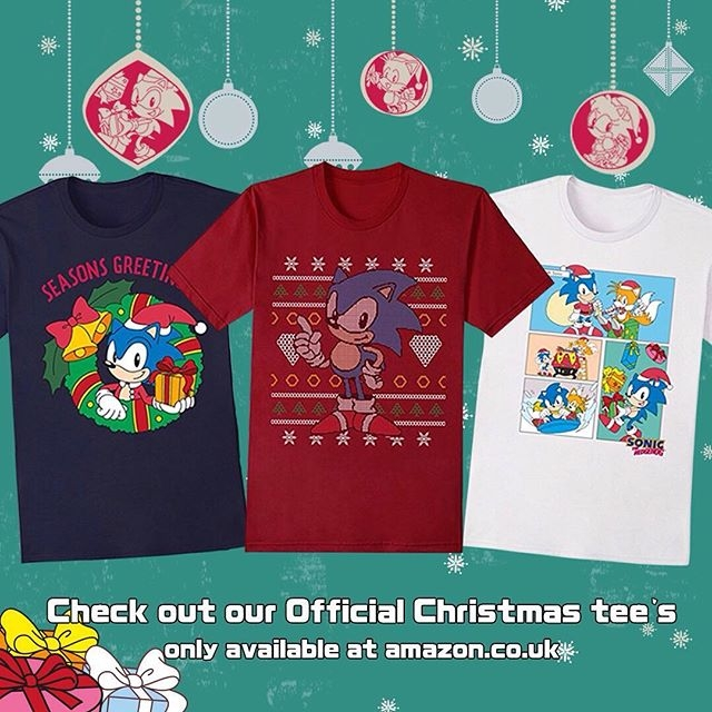Check out these Official #Sonic Christmas Tees now available from Amazon.co.uk #videogames #sega