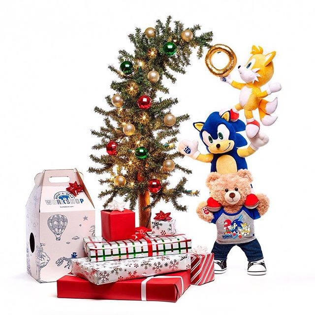 Get in the festive spirit with Sonic and Build-A-Bear available online in the UK  #buildabear #sega #sonicfan #videogames #christmas