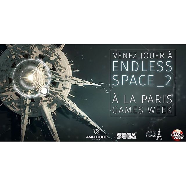 Si vous vous rendez à la Paris Games Week, faites un saut pour jouer à Endless Space 2 et Dawn of War 3 ! #pgw16 #videogames #sega #dawnofwar3 #endlessspace2