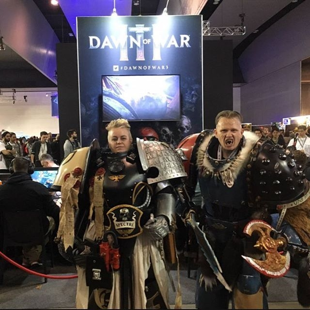 Awesome #cosplay at the Dawn Of War 3 booth during #PAXAus last week! #sega (Remember to tag your cosplay for a chance to get featured every Thursday!) #videogames