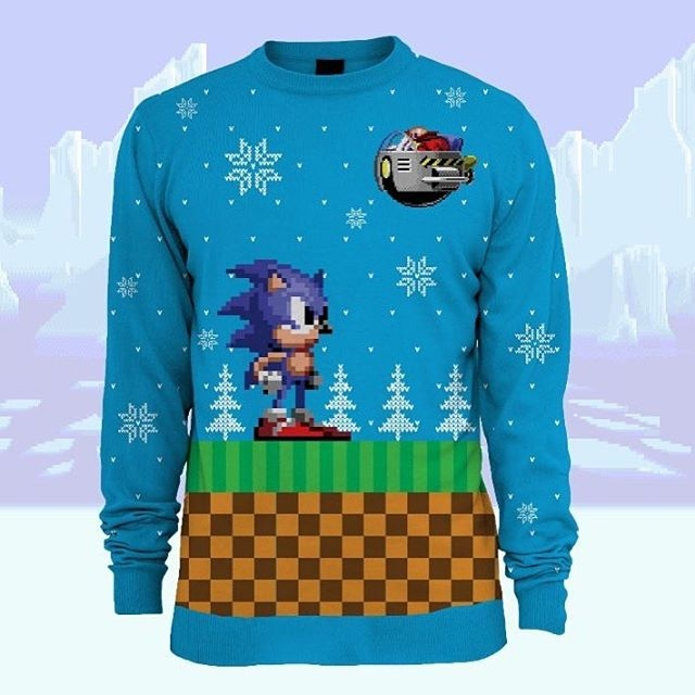 If your family gatherings are awkward, at least you can wear the world's best #christmas jumper! Available from YellowBulldog.co.uk #sonic #sega #numskull