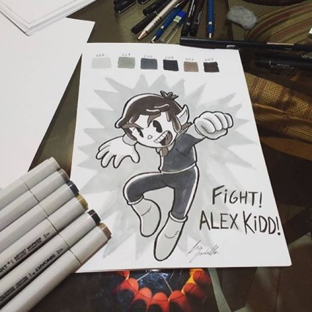Today's fan art : @cris.gadelha Alex Kidd! (tag your fan art for a chance to be featured!) #alexkidd #sega #retrogaming #videogames #fanart