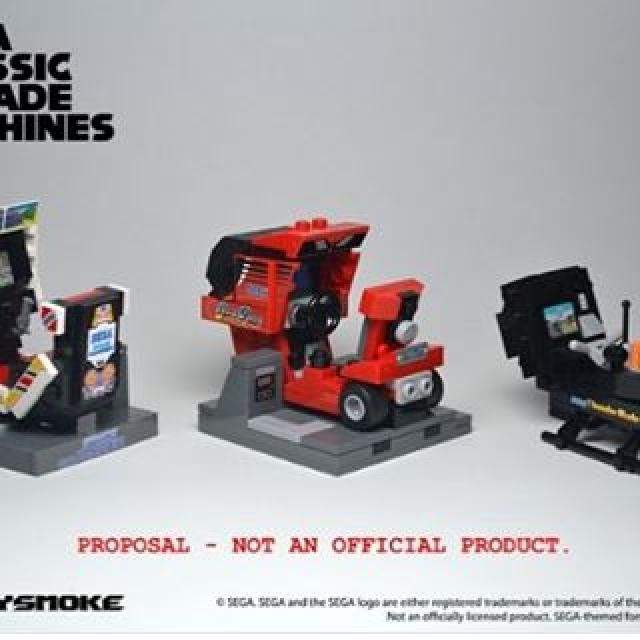 A fun and nostalgic idea put forward by SpacySmoke of the LEGO Ideas community! http://sega.vg/jGUT307kzbU #LEGO #LEGOIdeas #sega #outrun #thunderblade #spaceharrier #arcade
