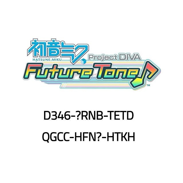 Here's a chance to win a Hatsune Miku: Project DIVA Future Tone bundle code. Just replace the ? with a number from 0-9. Codes can only be redeemed on European PlayStation 4 only.